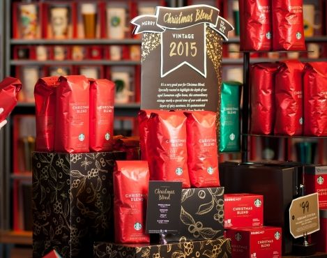 The 2015 holiday season arrived at Starbucks® stores around the world