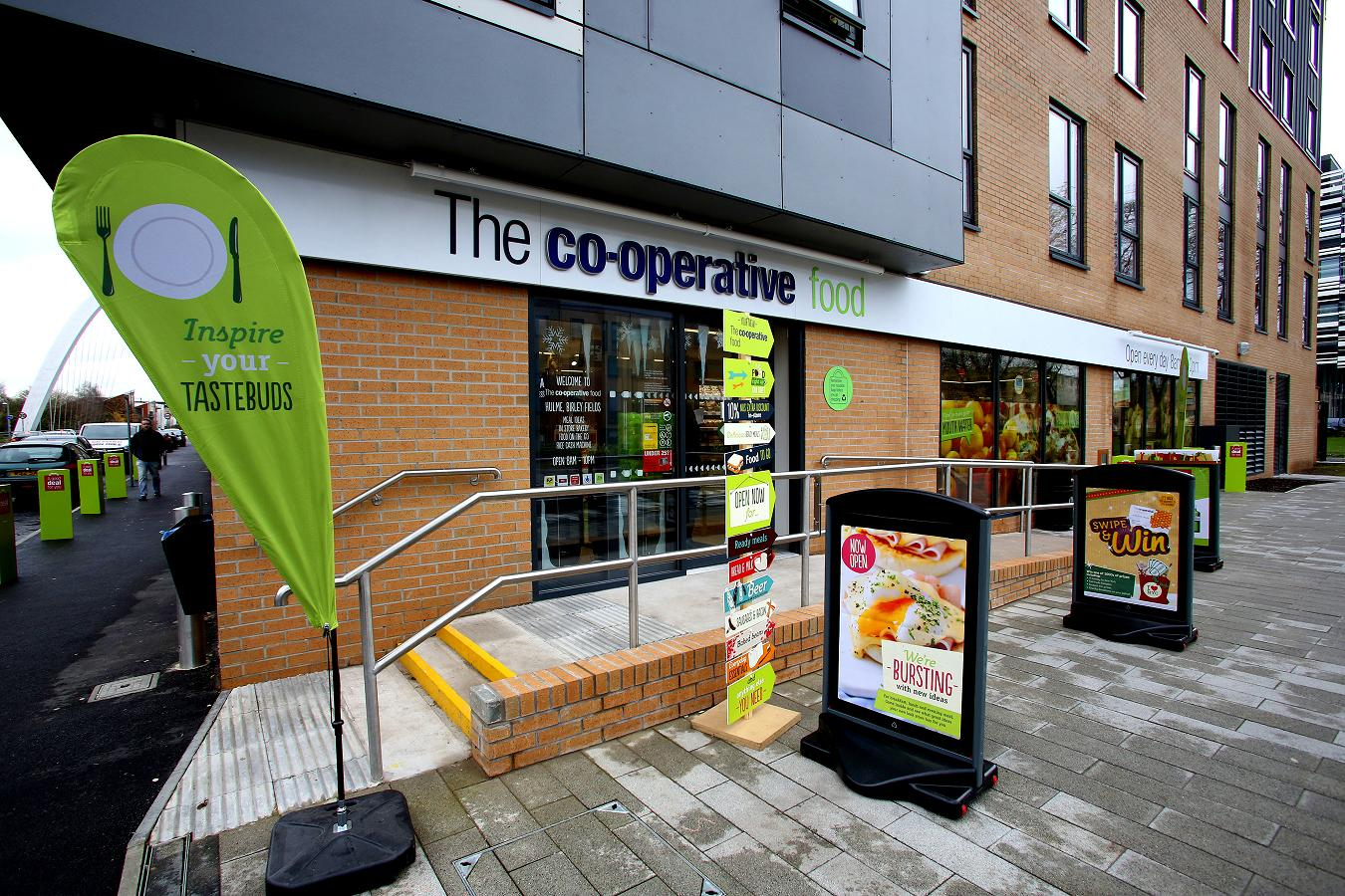 Re-opening of the Co-Op store on Birley Fields Campus. Hulme, Manchester. 19th November 2015.