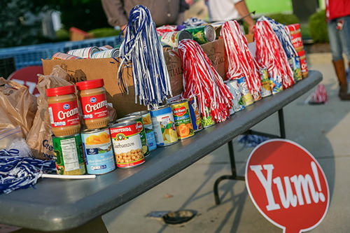 Yum! Brands raised over 18,000 pounds of food for the Dare to Care Food Bank in its hometown, Louisville, KY