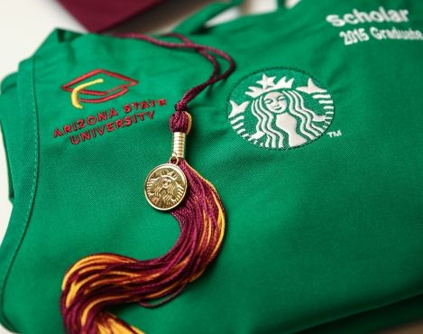 43 Starbucks partners received their degrees through the Starbucks College Achievement Plan in December