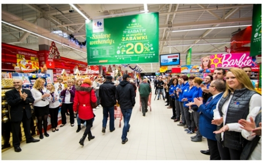 Carrefour opens new shopping center in Jaworzno, Poland
