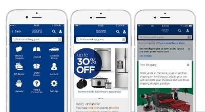 Sears refreshed its mobile app with new features