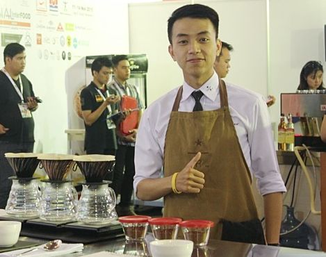 Starbucks barista Ryan Wibawa took top honors in the first ever Indonesian Brewers Cup Championship finals
