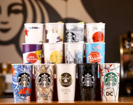 Starbucks launches its first series of local designs featuring U.S. states and cities for this holiday's Dot Collection