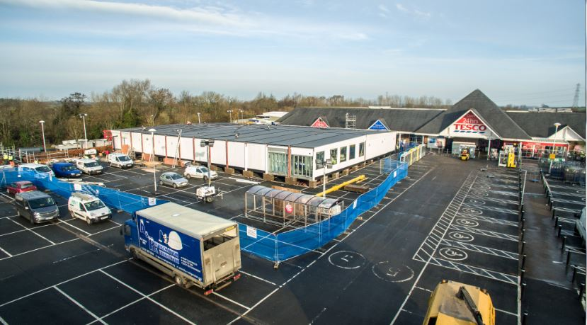 Tesco built 10,000 sqft store in the space of Tesco Carlisle to help customers affected by the floods in Cumbria