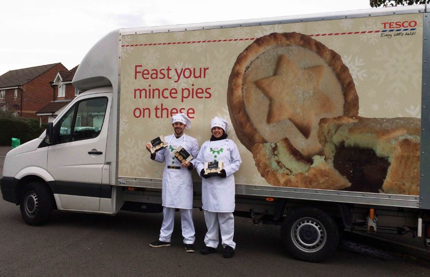Tesco delivers free mince pies around Britain TO help customers get into the festive spirit