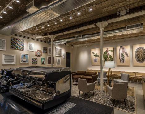The Starbucks new store in Chelsea New York celebrates art and its connection to the community