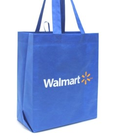 Walmart Canada promotes the use of reusable bags with the aim to reduce plastic waste