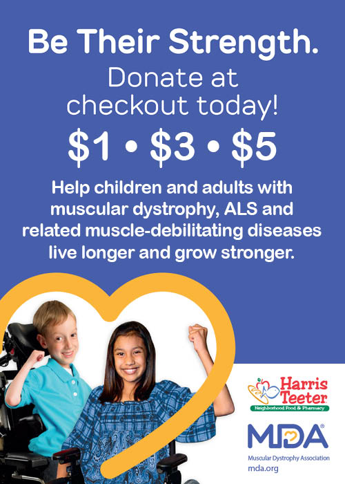 Harris Teeter to run in-store donation card campaign to benefit the Muscular Dystrophy Association during the month of March