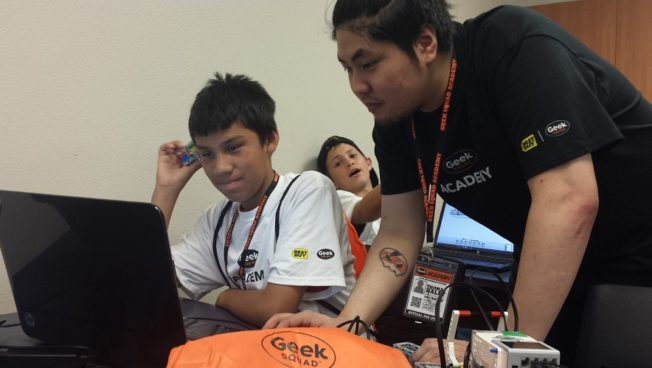 Best Buy's Geek Squad Academy summer camp visits tribal nation as part of the federal government's ConnectHome initiative