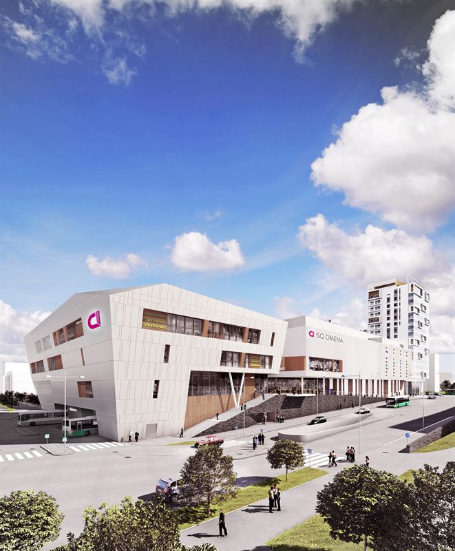 Iso Omena shopping centre awarded a LEED® Platinum certificate for its extension that will open in August