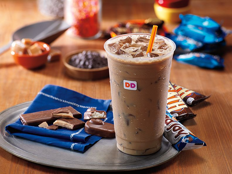 New Heath and Almond Joy iced coffee flavors at Dunkin' Donuts