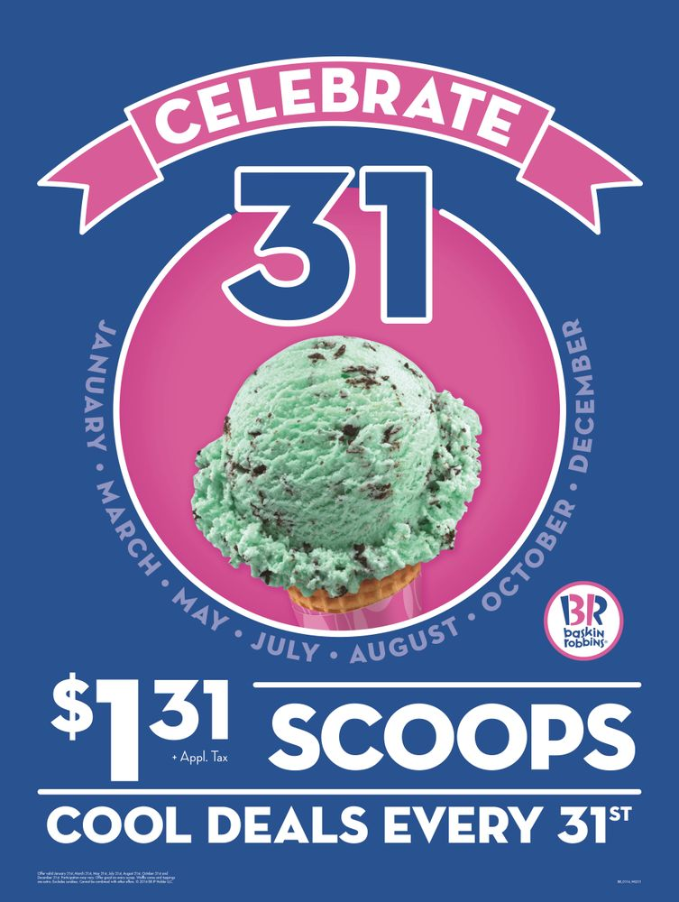 Baskin-Robbins announces $1.31 Ice Cream Scoops on July 31