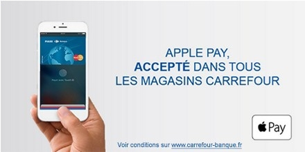 Carrefour launches Apple Pay at its stores in France