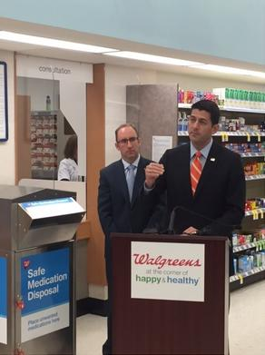 House Speaker Paul Ryan joins Walgreens at the July 25, 2016 launch of drug take-back disposal program in Wisconsin