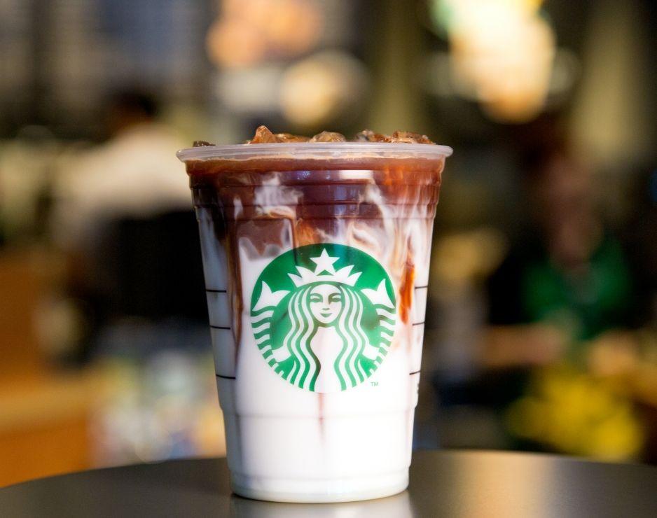 Iced Coconut Milk Mocha Macchiato: Starbucks' first iced espresso beverage that features coconut milk