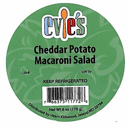 "Hearn Kirkwood: Voluntary recall of ""Evie's Cheddar Potato Salad"""