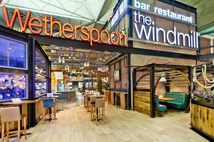 Wetherspoon airport pub The Windmill at Stansted Airport named 'Airport bar of the year' in the FAB awards