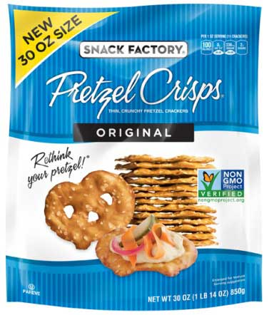 Baptista's Bakery: voluntary recall of a limited number of 30 oz. Snack Factory® Original Pretzel Crisps® packages