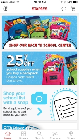 Back-to-school shopping has never been easier with Staples mobile iOS app