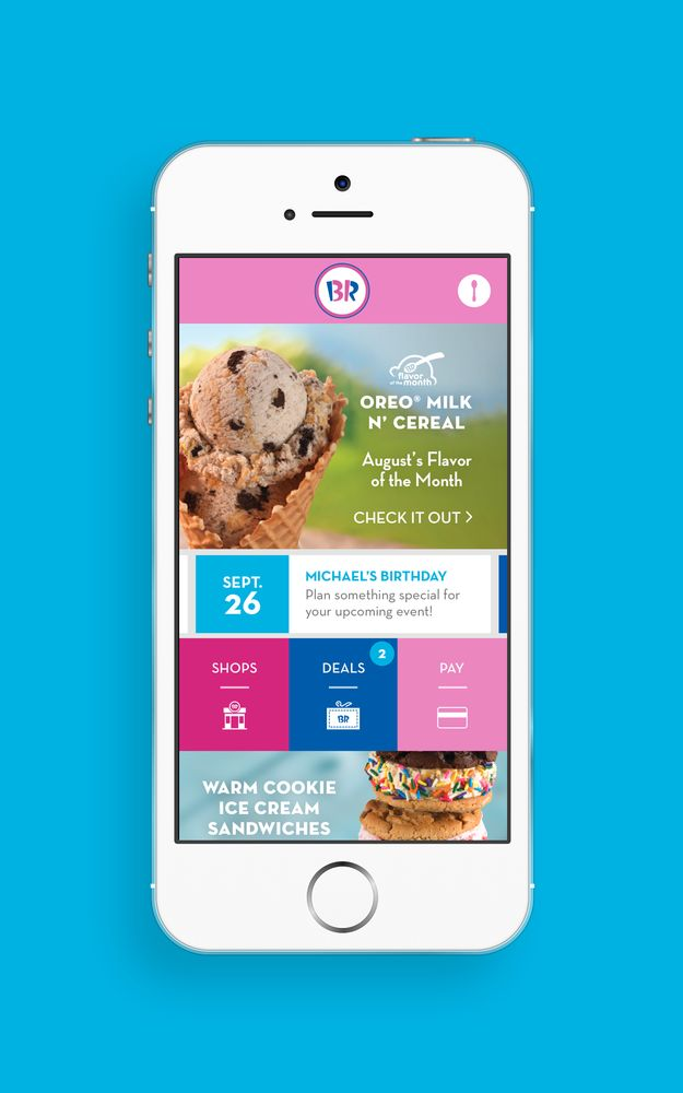 Baskin-Robbins announces launch of its new mobile app featuring special mobile offers and mobile payment