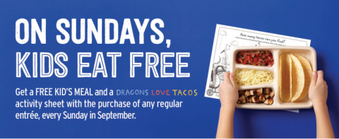 Chipotle announces Kids eat free every Sunday with the purchase of an entrée this September