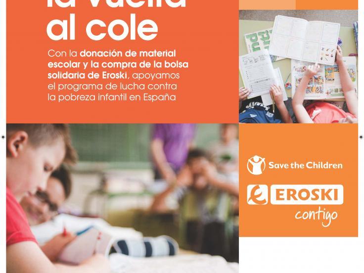 EROSKI y Save the Children unen fuerzas contra la pobreza infantil en España