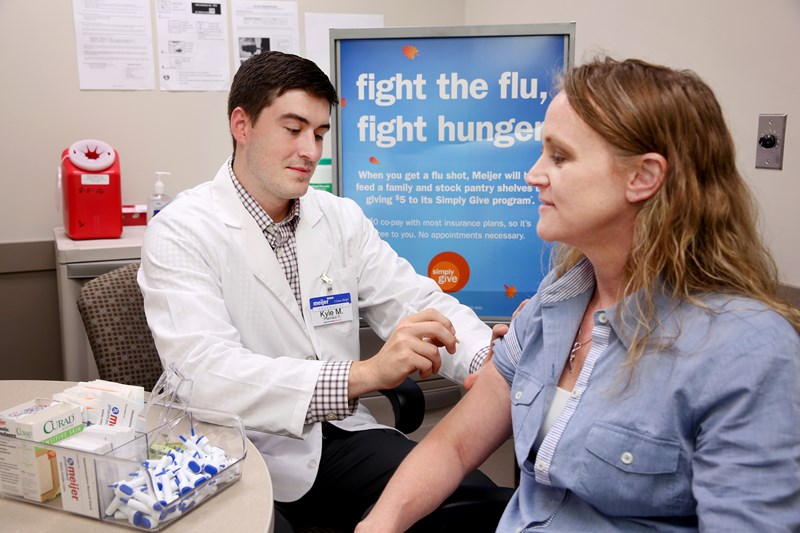 Get your flu shot at Meijer and help fight hunger