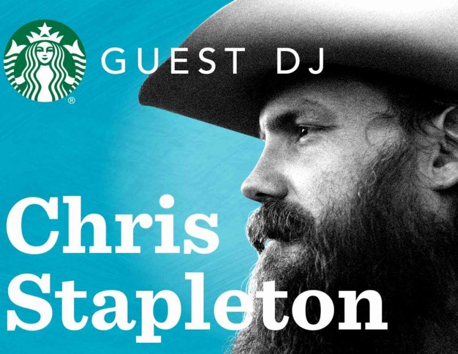 Grammy Award-winner Chris Stapleton the latest to step in as a Guest DJ for Starbucks