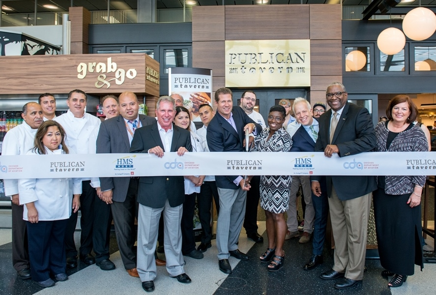 HMSHost celebrates grand opening of Publican Tavern at Chicago O'Hare International Airport