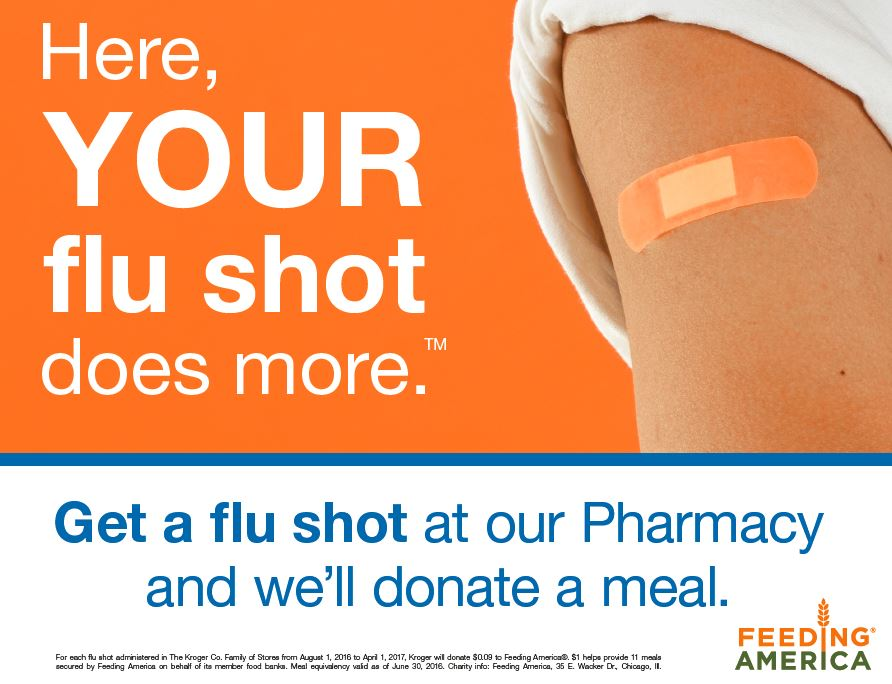 Harris Teeter to donate one meal through Feeding America network of food banks for every flu shot administered at its pharmacy