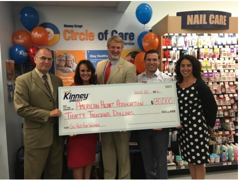 Kinney Drugs honored as No.1 fundraiser for the American Heart Association's Wear Red Day