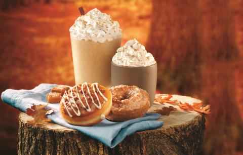 Krispy Kreme Doughnuts features classic flavors of fall