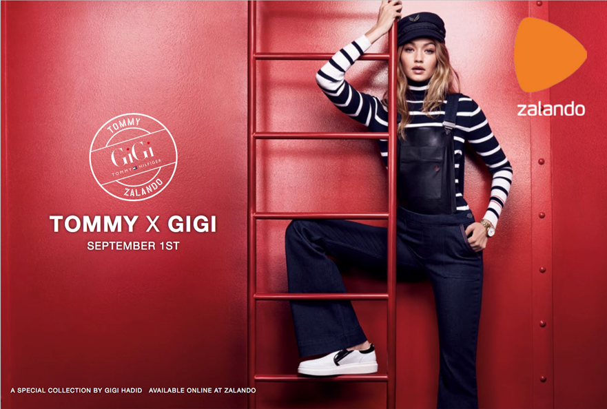 epr retail news the tommy x gigi collection will be available exclusively at zalando from. Black Bedroom Furniture Sets. Home Design Ideas
