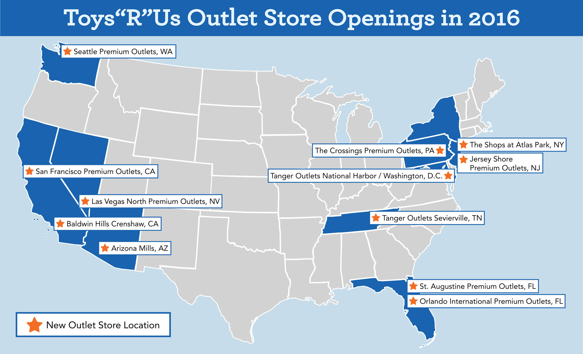 EPR Retail News There Will Be Nearly 40 ToysRUs Outlet - Map Of Toys R Us