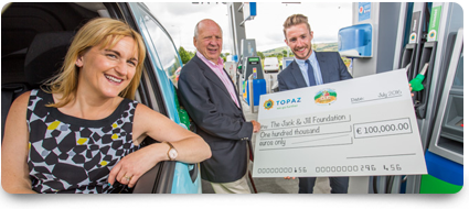 Topaz's 'Small Change, for Big Change' fundraising campaign raised €100,000 in aid of the Jack & Jill Children's Foundation
