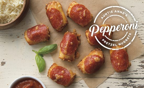 Auntie Anne's® announces NEW Pepperoni Pretzel Nuggets available now through November 13