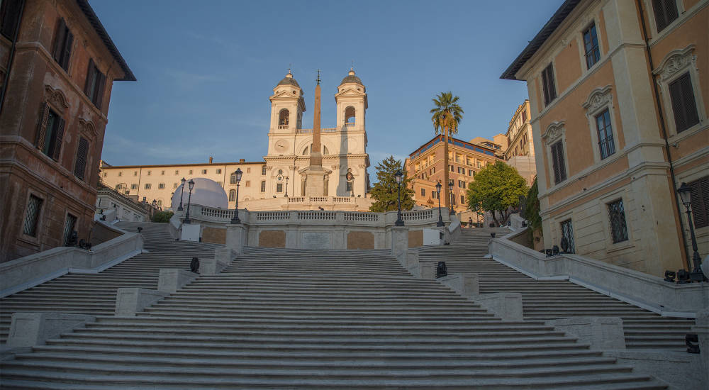 Bulgari unveiled the newly restored Spanish Steps in Rome
