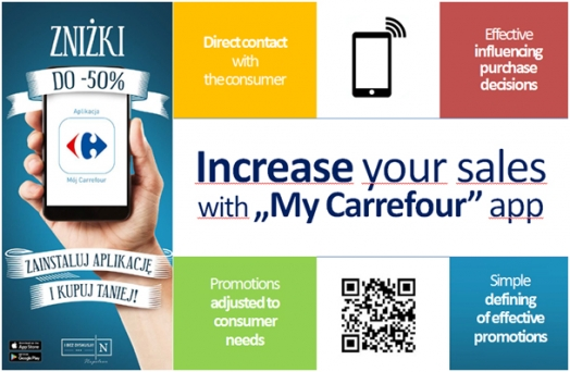 Carrefour Poland launches free mobile app for its customers