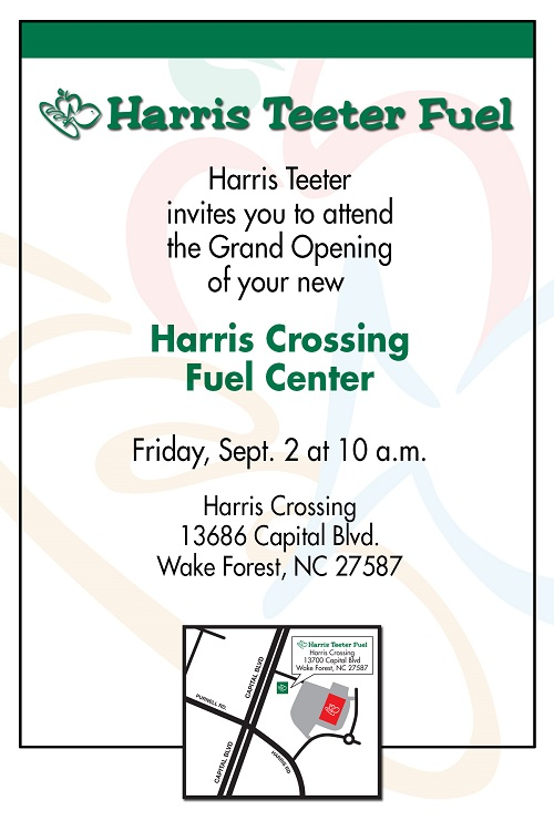 Harris Teeter celebrates opening of new fuel center in Wake Forest, NC with special fuel promotion