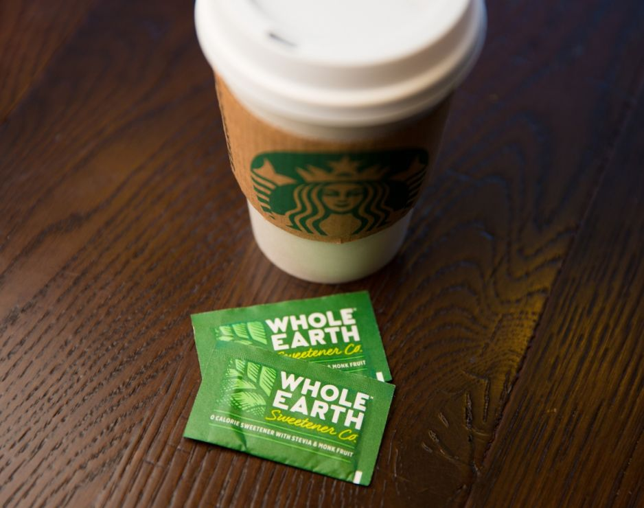 Starbucks adds Whole Earth Sweetener Company's Nature Sweet packets to its condiment bar