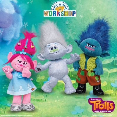 Build-A-Bear Workshop unveils line of Make-Your-Own plush based on DreamWorks Animation's Trolls characters