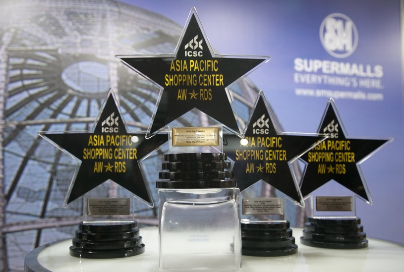 ICSC Global Awards for 2016 honored SM Supermalls with four major awards