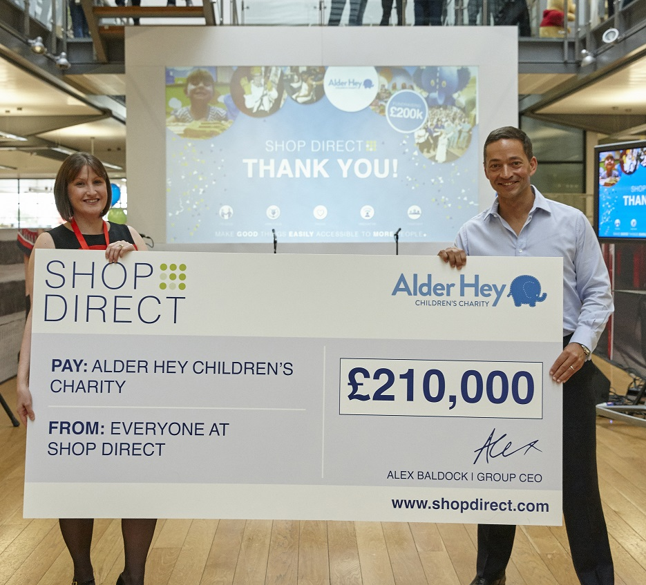 Shop Direct to support the development of a new digital app for Alder Hey Children's Hospital