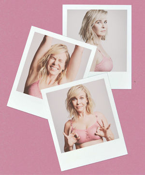 Stella McCartney launches new pink Lace Lingerie set and Breast Cancer Awareness campaign featuring Chelsea Handler