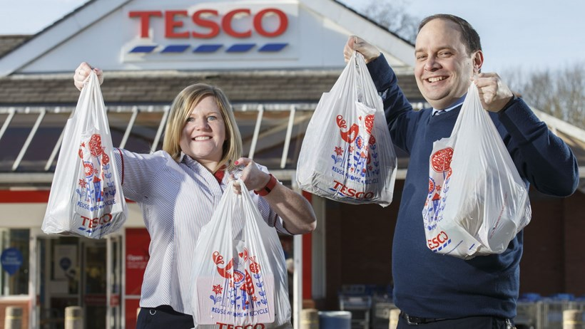 Tesco customers saved over 1.5 billion carrier bags in England since Government bag charge introduction