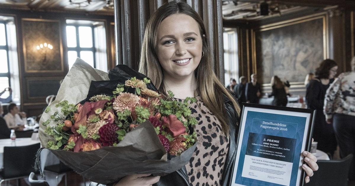VERO MODA apprentice awarded second prize in 'Detailhandlens Fagprøvepris 2016'