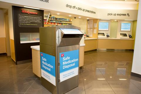 Walgreens collected and safely disposed more than 10 tons of medication through its safe medication disposal kiosks nationwide