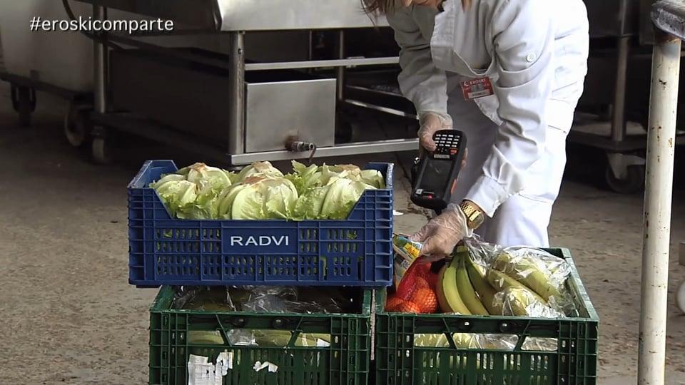 EROSKI y sus clientes donan 5.000 toneladas de alimentos para familias necesitadas