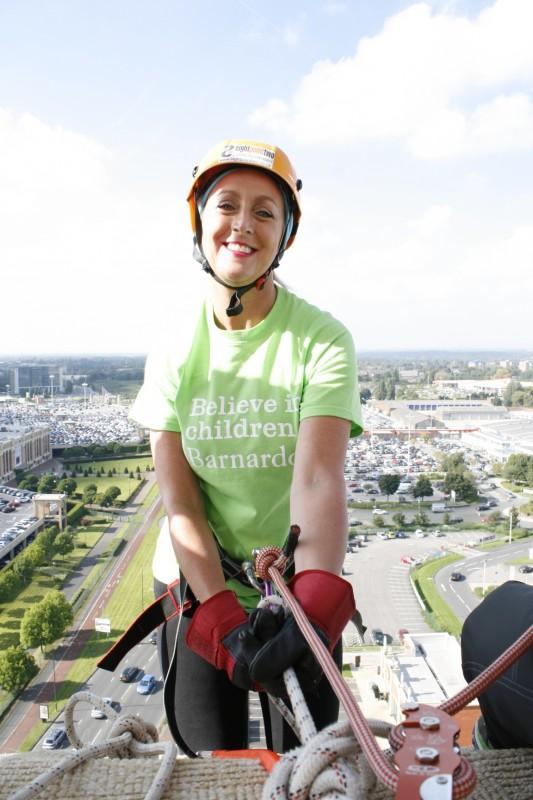LCP employee Mandy Lloyd raised hundreds of pounds for children's charity Barnardo's